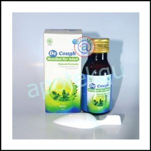 De Cough Mentol Syrup 60 ml